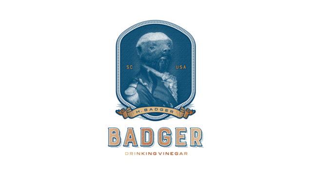 Badger Drinking Vinegar – Logo & Label
